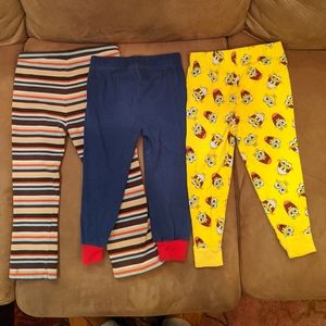Lot of 3 pairs of Boy's Pants Size 3T Misc Brands